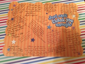 Karen's thank you card