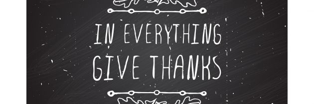 Can We Be Grateful Post-Thanksgiving?